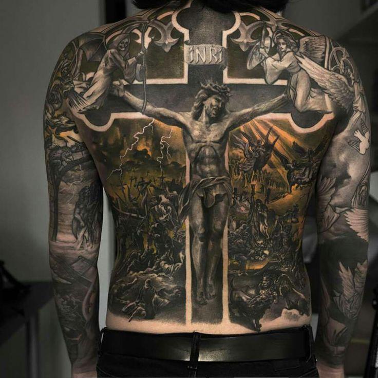 #back #tattoo #jesus