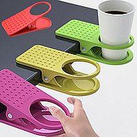 Прищепка-держатель для чашки и стакана
