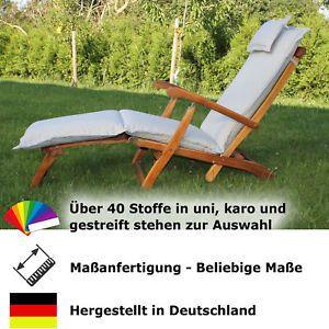 Deckchair-Auflage nach Maß aus Dralon, Schriftzug aussticken möglich  | eBay