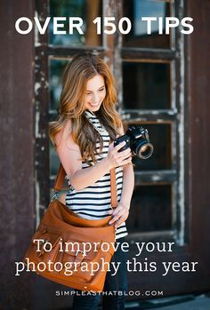 Have you always wanted to take better photos? Improve your photography skills this year with over 150 simple, easy to follow photo tips! Camera bag by Jo Totes