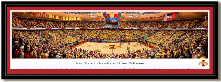 MyTeamPrints.com - Iowa State Cyclones Basketball Hilton Coliseum Framed Poster, $129.00 (https://www.myteamprints.com/iowa-state-cyclones-basketball-hilton-coliseum-framed-poster/)