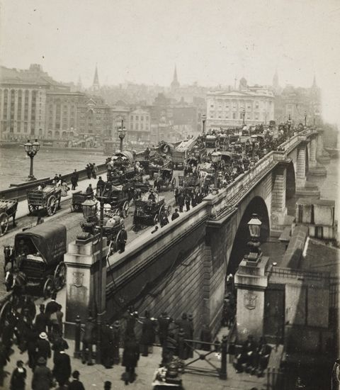 London Bridge, south side, c.1900