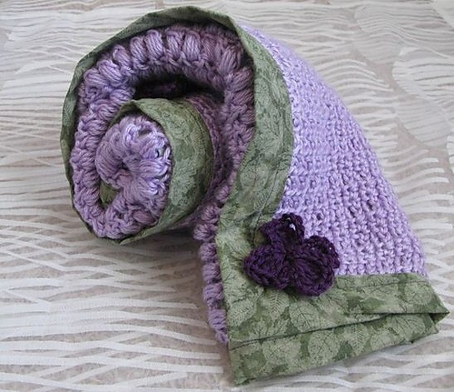 Ravelry: Reversible lavender baby blanket pattern by The Strumpets Tentacle