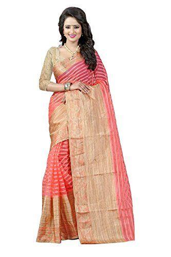 Indian Fashionista Women's Pure Cotton Silk Designer Party Wear Saree