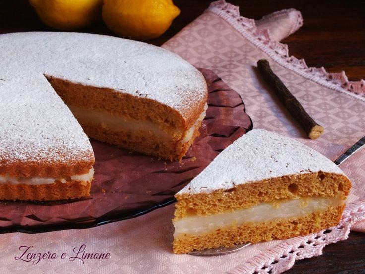 Torta alla liquirizia con crema al limone