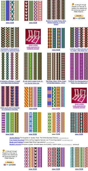 free bead patterns for the loom.