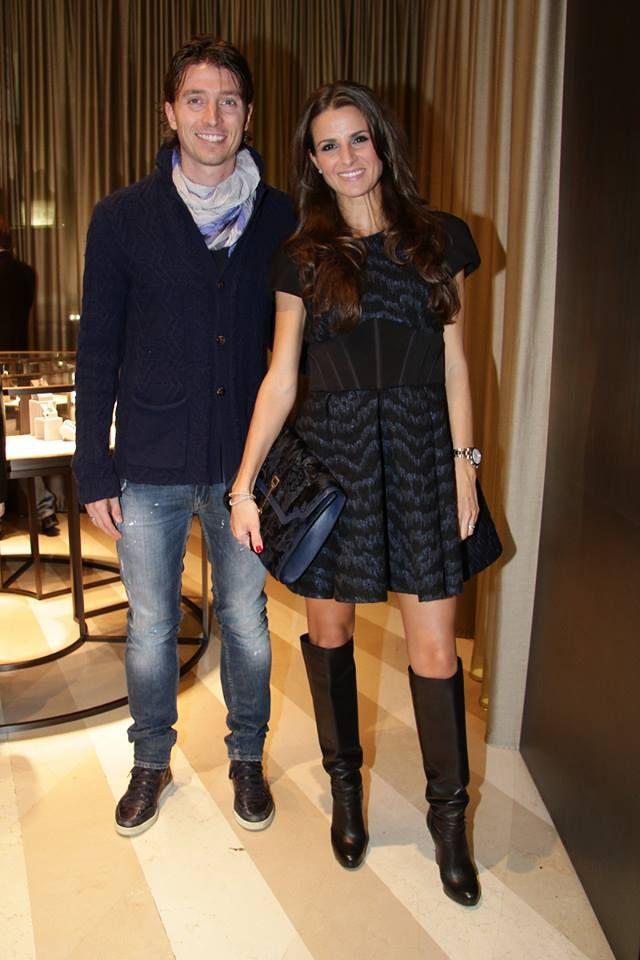 Riccardo Montolivo and Cristina De Pin at Damiani boutique