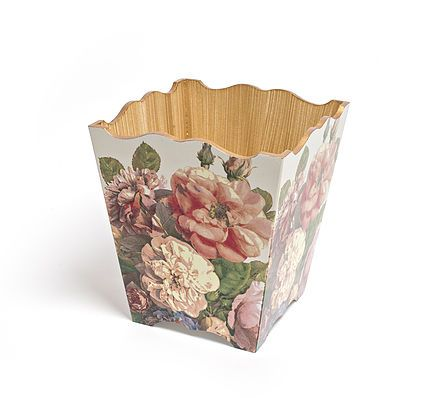 English Rose Waste Paper Bin by Crackpots Tissue boxes and Bins - decoupage with love <3