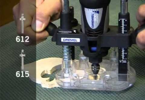 How to use Dremel Plunge Router Attachment - Origo DIY Tools - Woodworkingguides.info