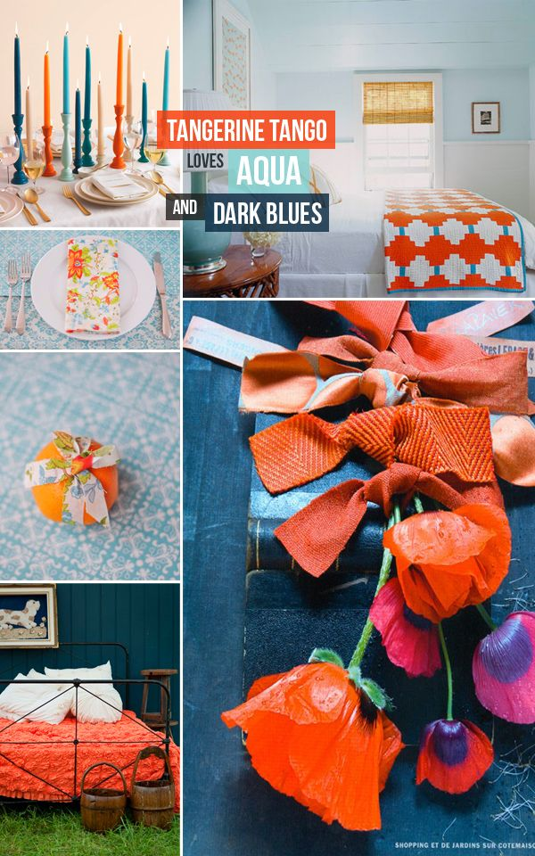 Tangerine Living Room Decor: 90 Best Coastal Color Inspiration: Navy, Teal, Orange, And