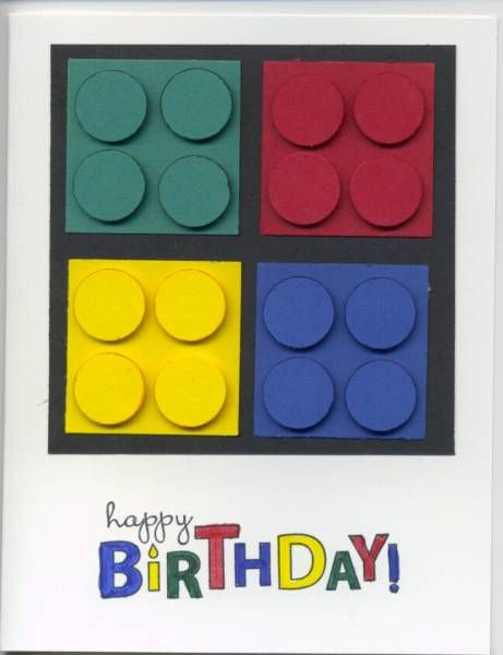 Lego Birthday by amyphelps - Cards and Paper Crafts at Splitcoaststampers
