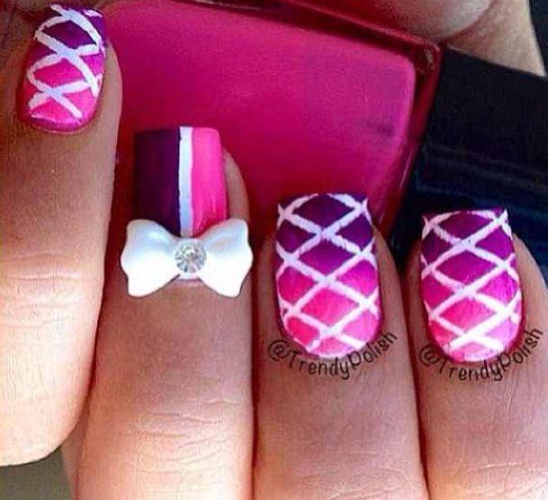 pink bow nails design nail designs amp tutorials