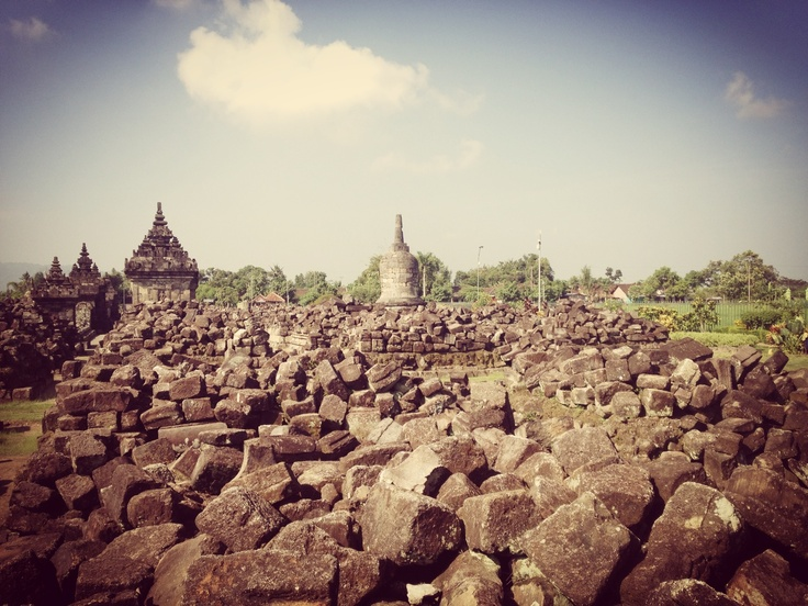 The ruin of Plaosan Temple in Central Java