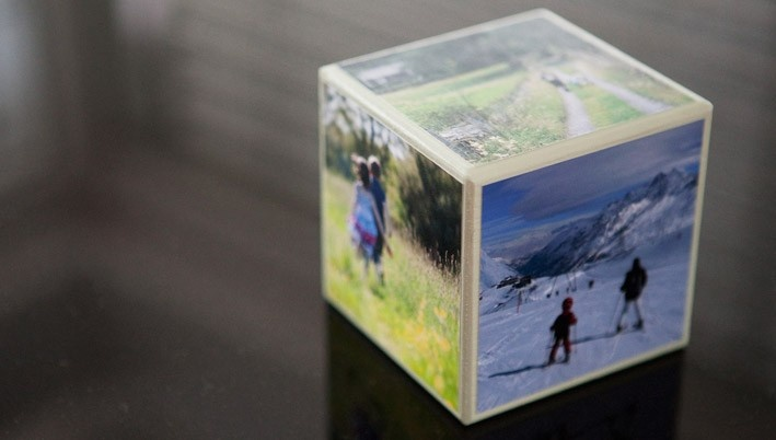 Photo Cube made with Mod Podge