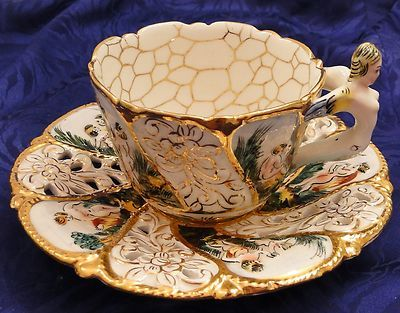 Capodimonte cup & saucer: