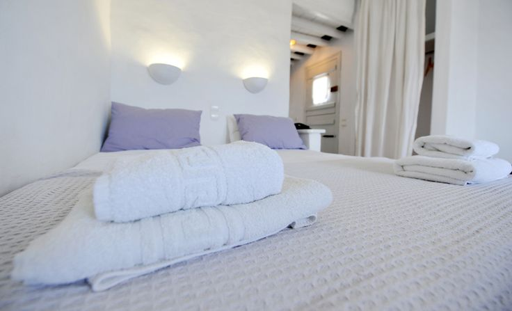 Room 1 #windmillbellavista #sifnos #cycladed #greece #bed #bedroom #sheets -- we love to be minimal --