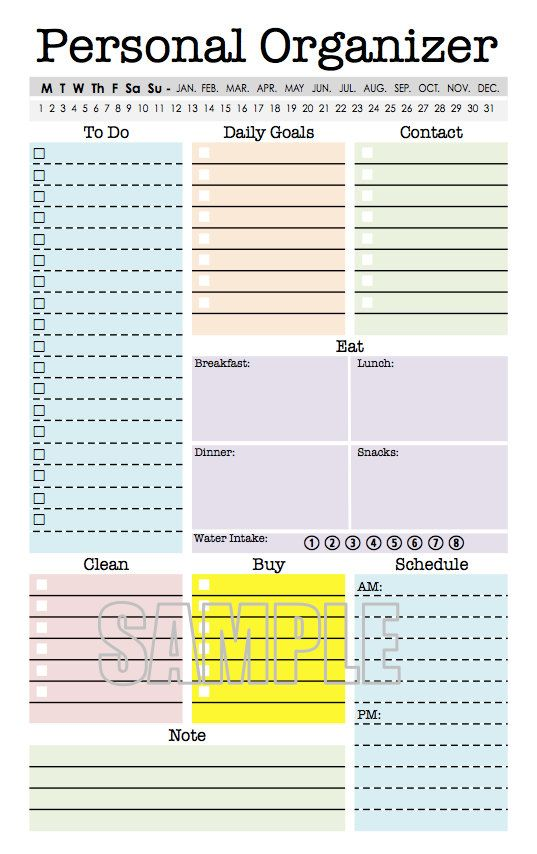 Calendar Planner Organizer : Best images about half size printables on pinterest