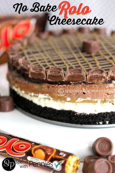 No Bake Rolo Cheesecake!