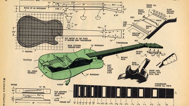 How to Build an Electric Guitar - Historic 1959 Plans (Free Download) - Cigar Box Nation ...
