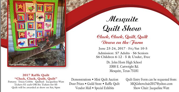 Save the Date for the upcoming Mesquite Quilt Show! #event #quilt #quiltshow #raffle #mesquitetx #visit #eat #play #stay #travel #tourism #texas #dfw