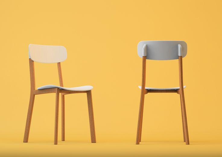 mr smith studio: cream chair for calligaris