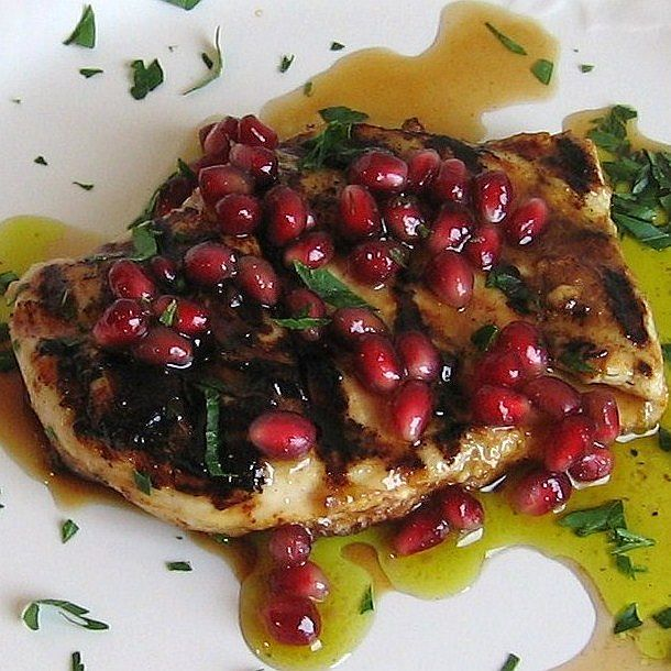 Eastern European Jewish Sukkot Recipes: Easy Grilled Chicken Breast with Pomegranate Vinaigrette Recipe