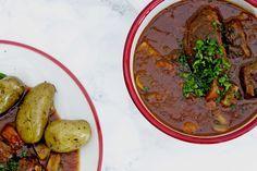 Stoofpotje van varkenswangetjes - bek,ijk dit recept op keukenrevolutie.be
