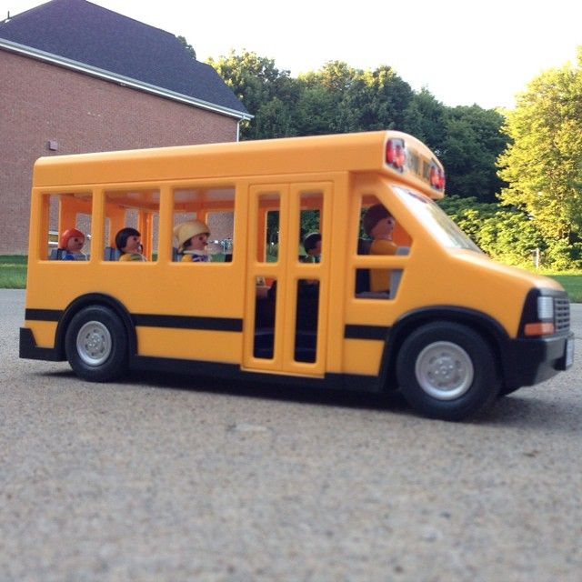 Time for school!✏️ #playmobil #school #bus
