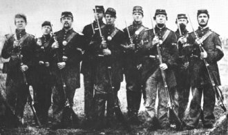 The 57th Massachusetts Veteran Volunteer Regiment was formed in the winter of 1864. The regiment left Camp Wool on April 18th 1864 with 916 men and officers. They were engaged in the battles of the Wilderness, Spotsylvania Court House, North Anna, Cold Harbor, Petersburg and the Crater. By July 30th, just 3 and a half months after leaving camp, there were only 46 enlisted men and 1 officer left to report for roll call. Grant's relentless tactics won the war, but destroyed thousands of young men.: Court Houses