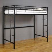 Twin-Over-Loft Metal Bunk Bed, Black: Kids' & Teen Rooms : Walmart.com