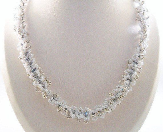 Zomer Bruiloft Witte Kralenwerk Juwelen Kralen Ketting