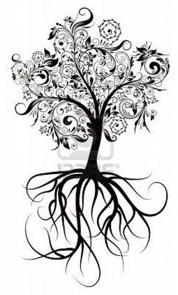 This would make an awesome family tree tattoo... Would somehow get 2 birds perched in there for my parents and 3 birds flying for us kids