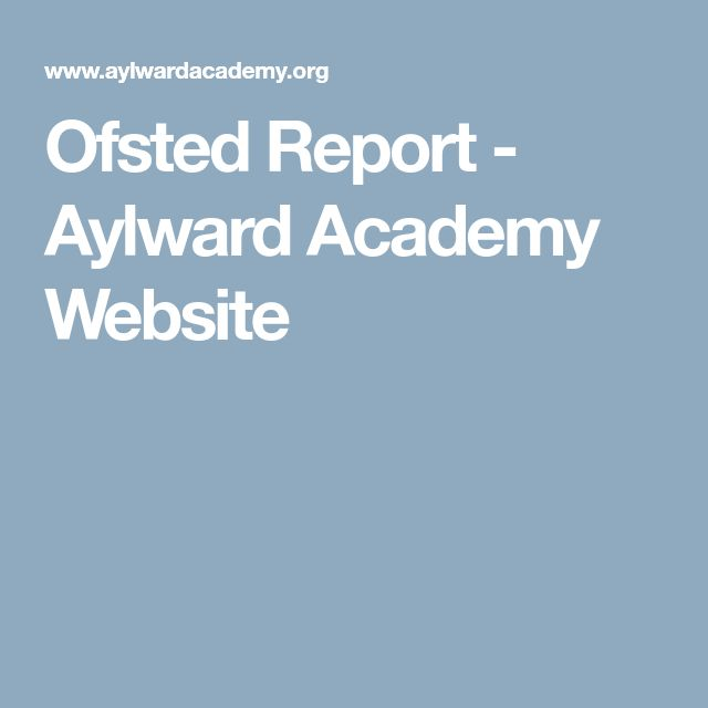 Ofsted Report - Aylward Academy Website