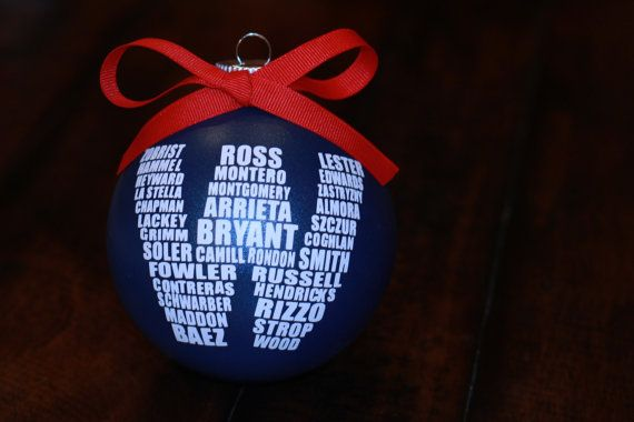 Cubs W Ornament, World Series Champions, MLB, Wrigley Field, Fly The W, Christmas Ornament, Chicago Cubs Roster