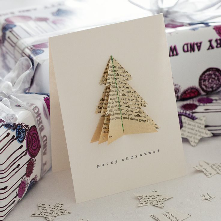 Bookish - bookish Tree Christmas Card, $4.91 (http://www.bookishengland.co.uk/bookish-tree-christmas-card/)