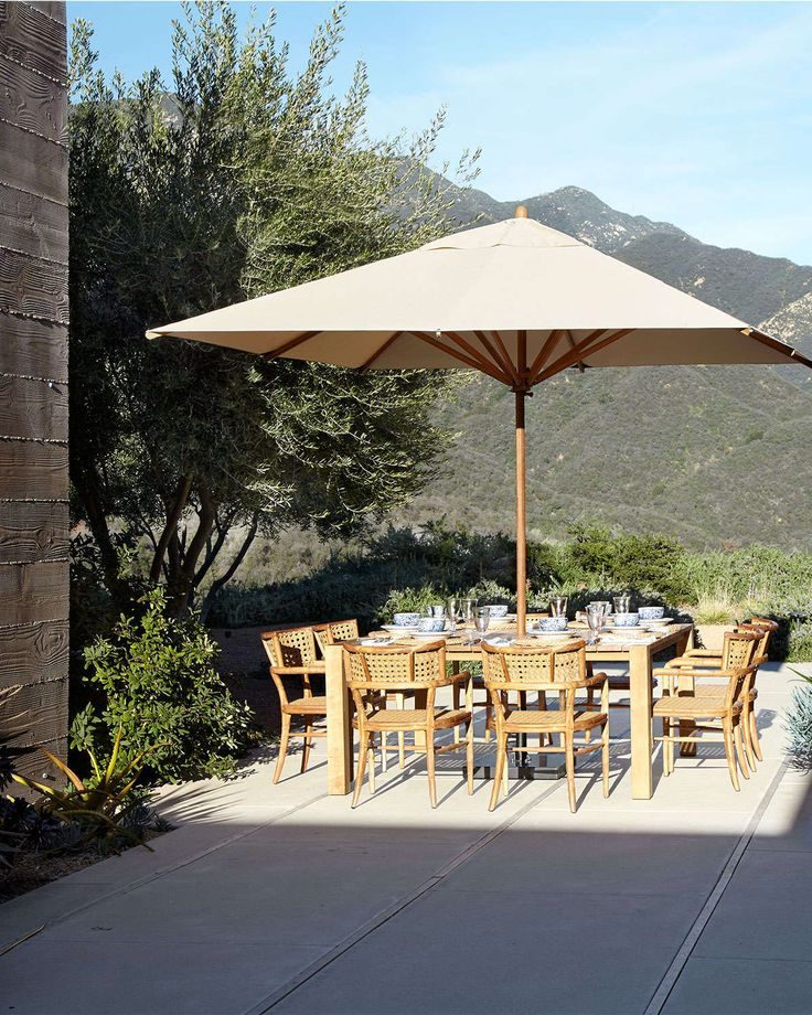 17 best images about offset umbrellas factory direct on for Restoration hardware outdoor umbrellas