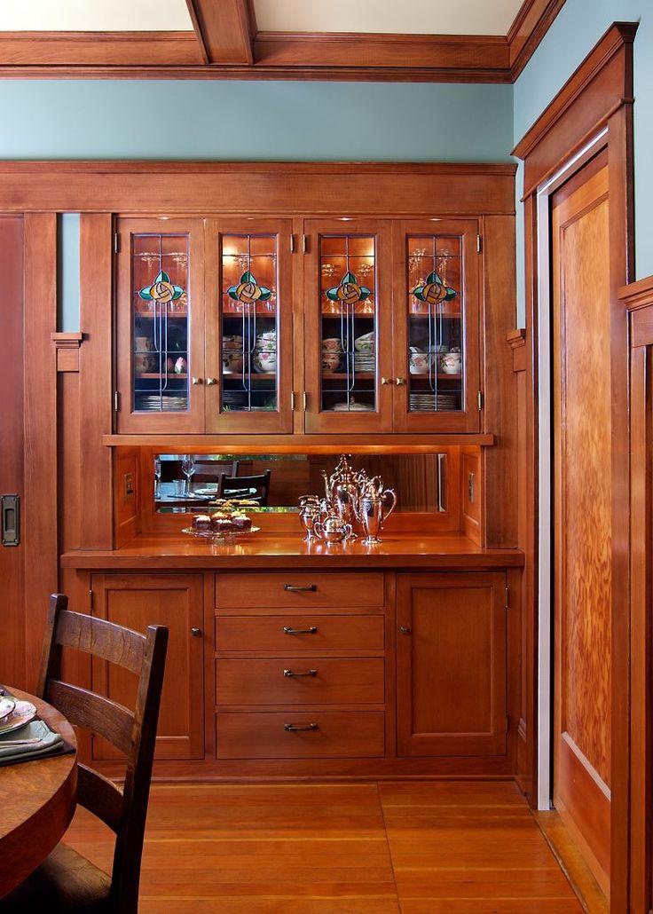 Craftsman-style sideboard. Design by Deb Kadas Interior Design Studio in Corvallis, OR.