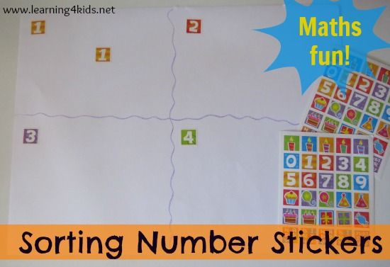 Number Activity – Sorting Number Stickers