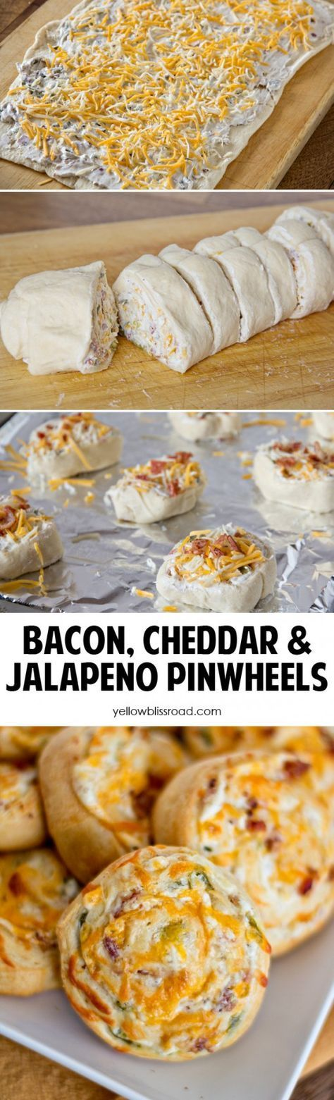 Bacon Cheddar Jalapeno Pinwheels...these are the BEST Super Bowl Football Party Food