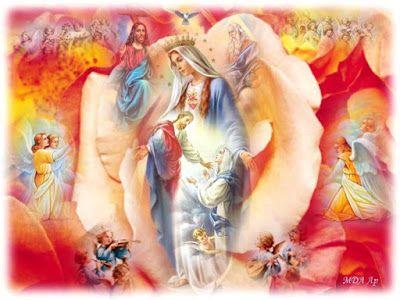 JEZUS en MARIA Groep.: KRONING VAN MARIA TOT KONINGIN VAN HEMEL EN AARDE
