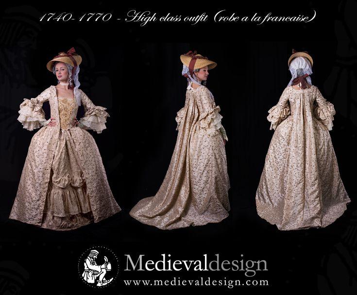 """1740-1770 """"Robe à la francaise"""" by medievaldesign.com"""