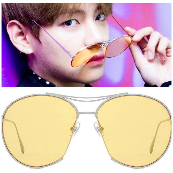 Gentle Monster JUMPING JACK 02 Y BTS Taehyung Sunglasses ❤ liked on Polyvore featuring accessories, eyewear, sunglasses, gentle monster, gentle monster sunglasses, gentle monster glasses and gentle monster eyewear