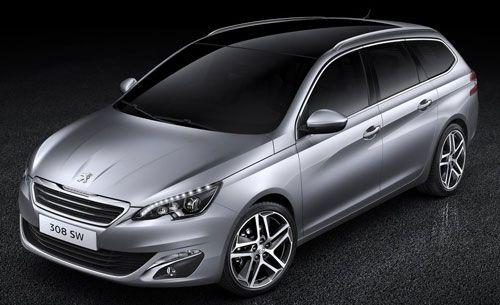 Peugeot 308 SW: 'Maxiespacio' | QuintaMarcha.com La gama del Peugeot 308 crece con la carrocería familiar SW, que llega hasta los 4,58 metros de longitud, dotada de un amplio maletero de 610 litros. 'Maxiespacio' para la familia y para actividades al aire libre. Llegará esta primavera.