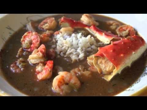 seafood and smoked sausage gumbo. with chicken.