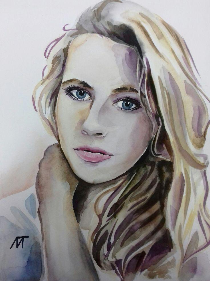 The portrait for Vika Watercolour, 30х40, 2016