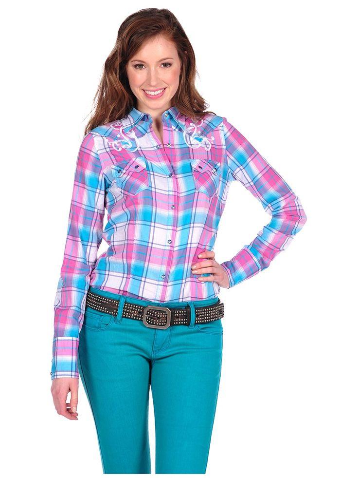 Stetson Mardi Gras Herringbone Plaid Shirt   Stetson