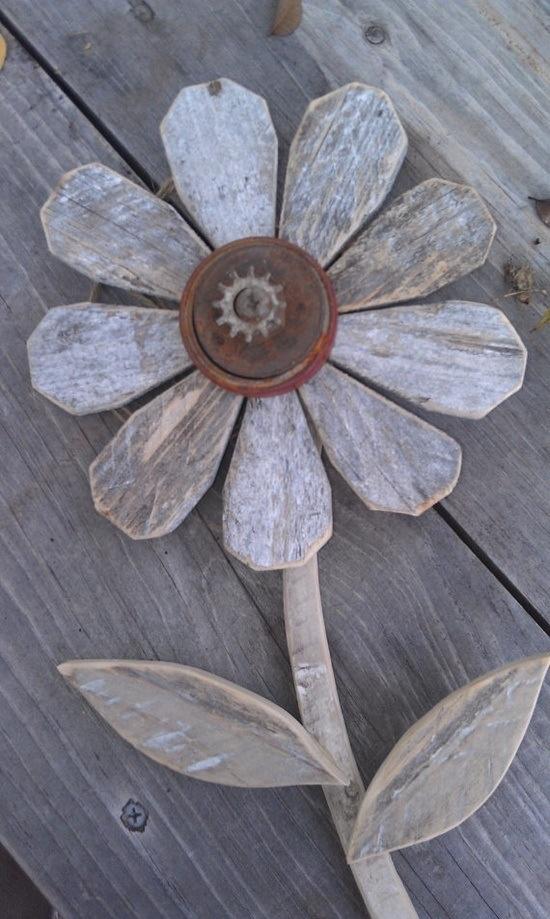 Wooden flower