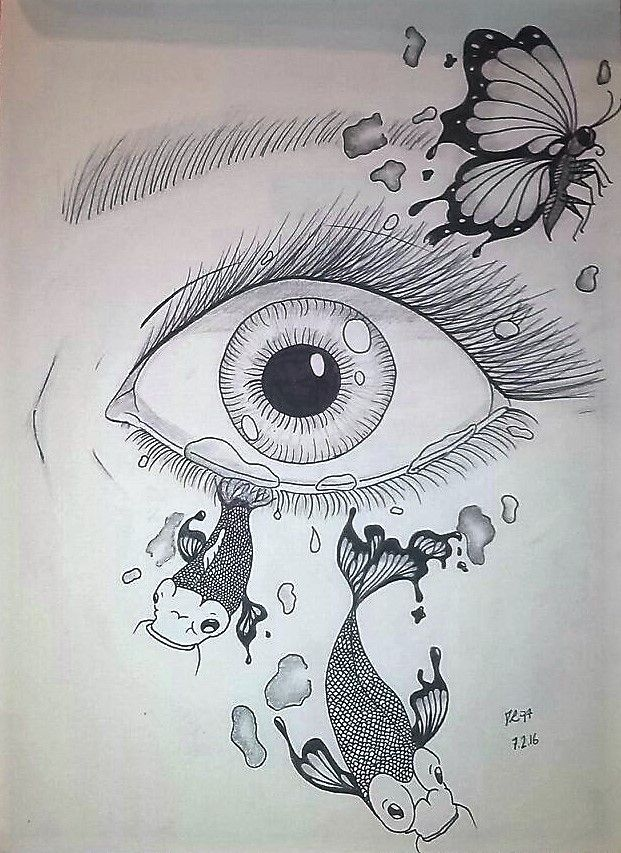 Eye Tears Fish Butterfly  by Rigoni Chiara // Dark Lady 97