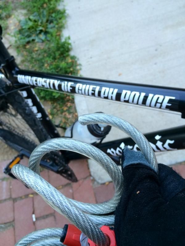 NEVER use a cable lock to secure your bike.  They are too easy to cut.  Use a U-lock or better yet use both a U-lock and cable lock.  It forces the thief to have two cutting tools