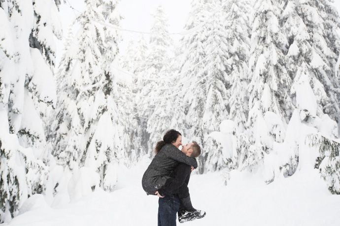 portrait of bride and groom in Grouse mountain by Vancouver intimate wedding photographer THIS IS IT STUDIOS